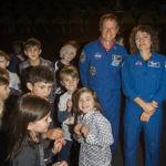 Christer Fuglesang och Jessica Meir. Populära föreläsare för barnen på Cosmonova.