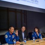 Olle Norberg, Christer Fuglesang och Jessica Meir. Populära föreläsare på Cosmonova.