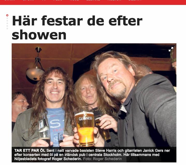 Selfie med Iron Maiden i Afonbladet